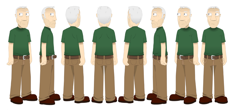 Leslie Nielsen - Animated