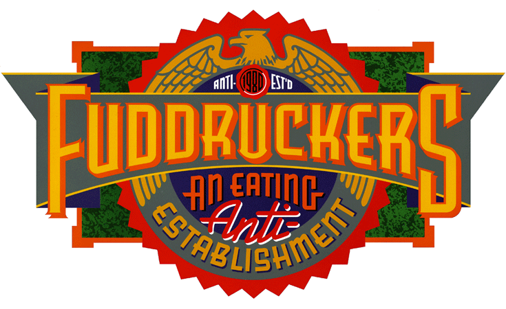 Fudruckers Logo by Michael Doret