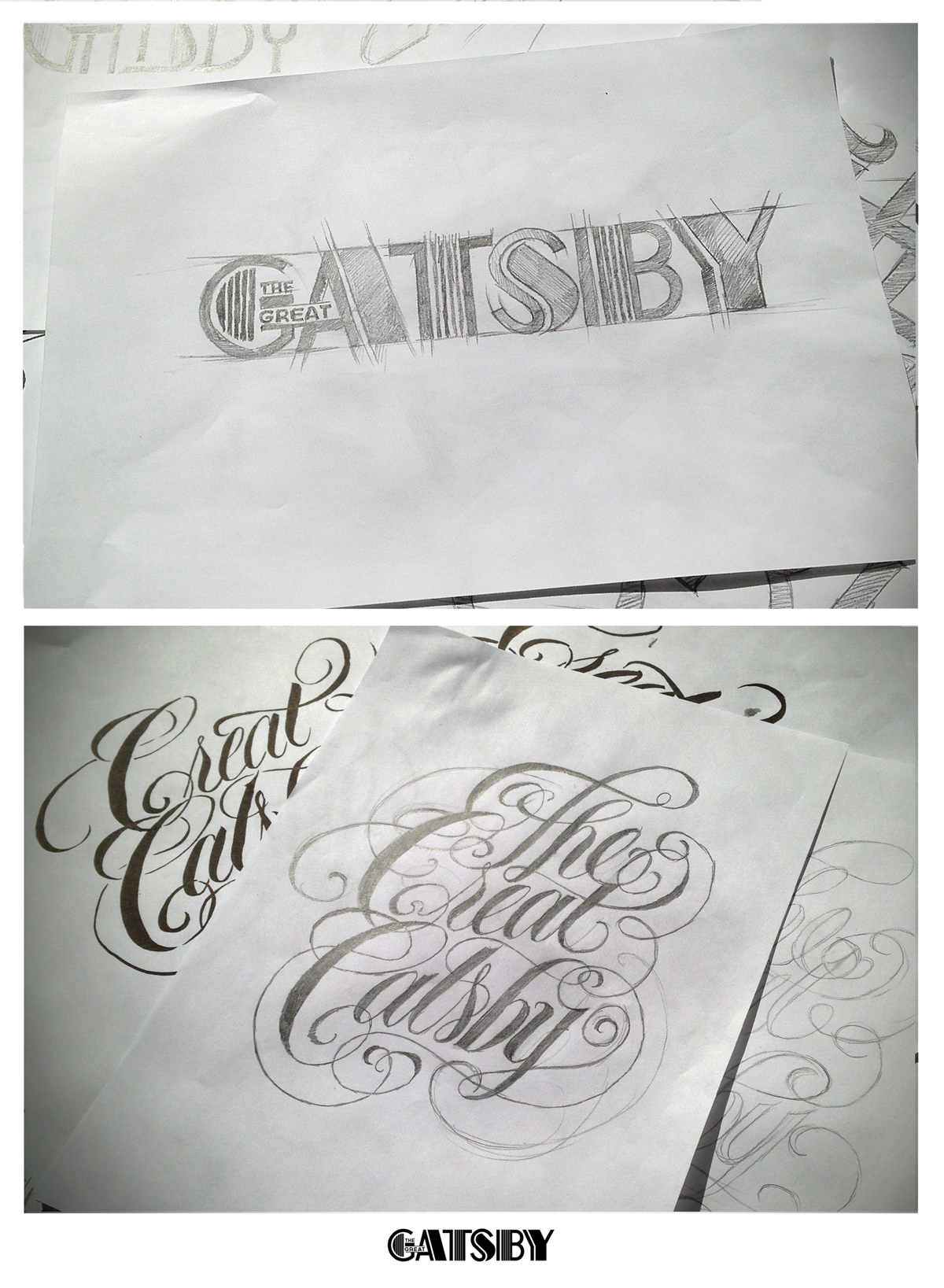 Great Gatsby Logo Sketch
