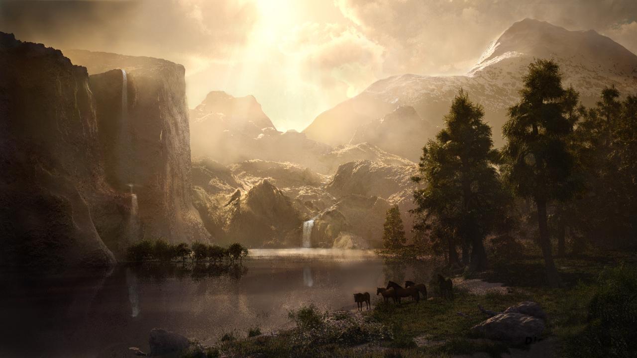 Bierstadts Sierra Nevada