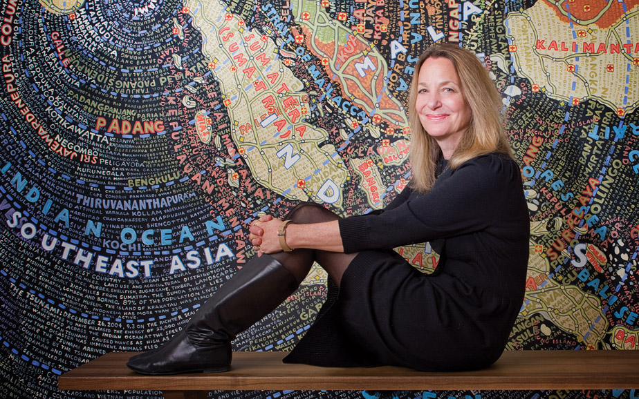 "Paula Scher – ""Less is more and more is more.  It's the middle that's not a good place"""