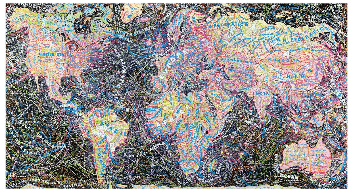 The World by Paula Scher