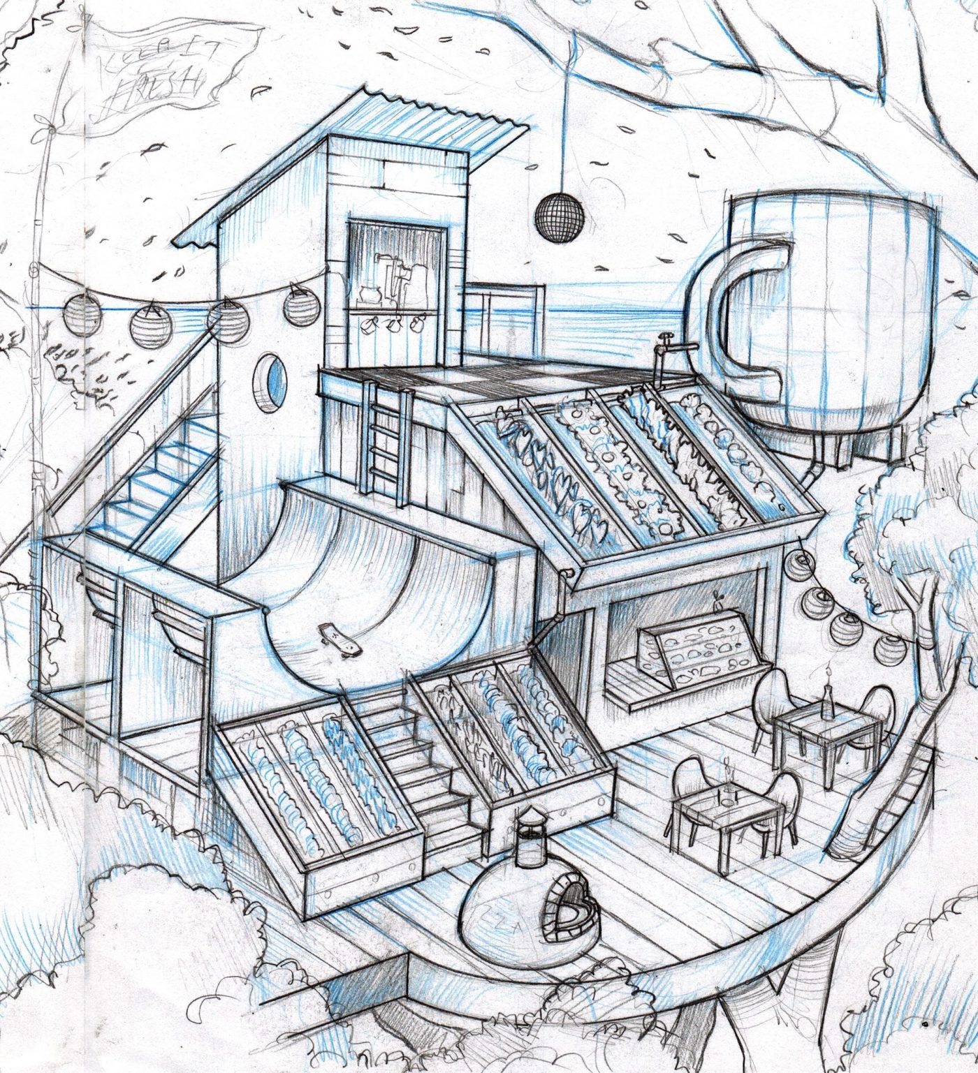 Tree House Sketch by Matthew Ortiz
