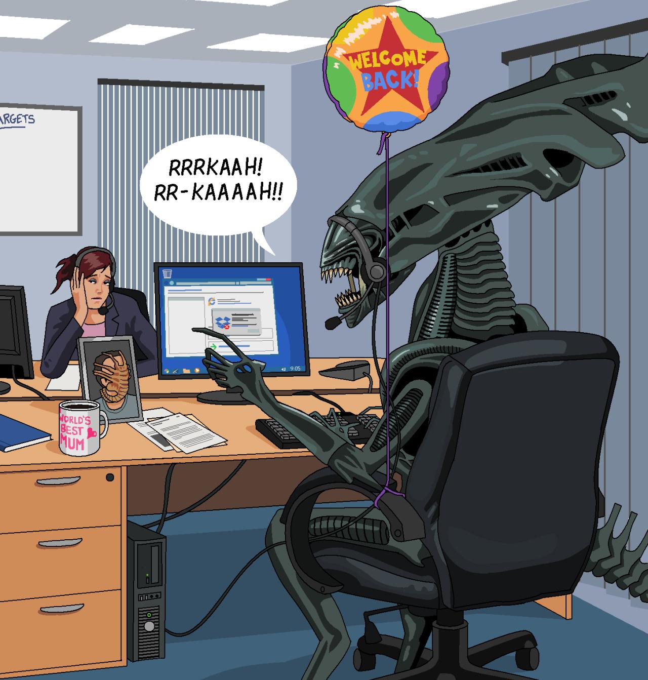 Alien by Jim'll Paint It