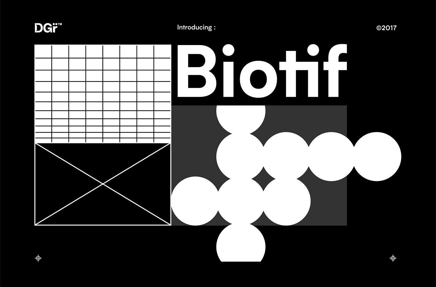 Biotif Typeface Deni Anggara