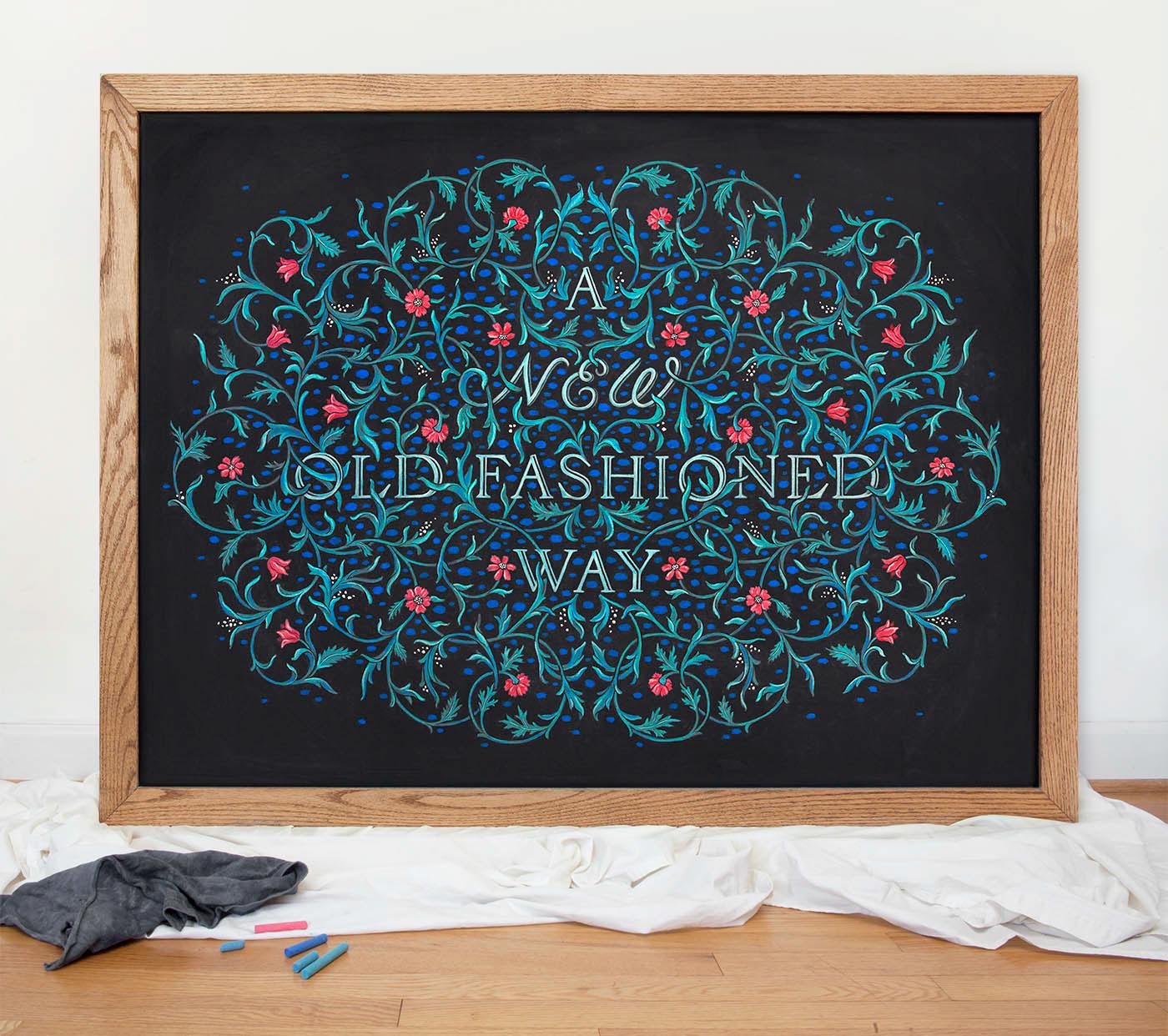 New Old Fashioned Chalkboard - North Carolina