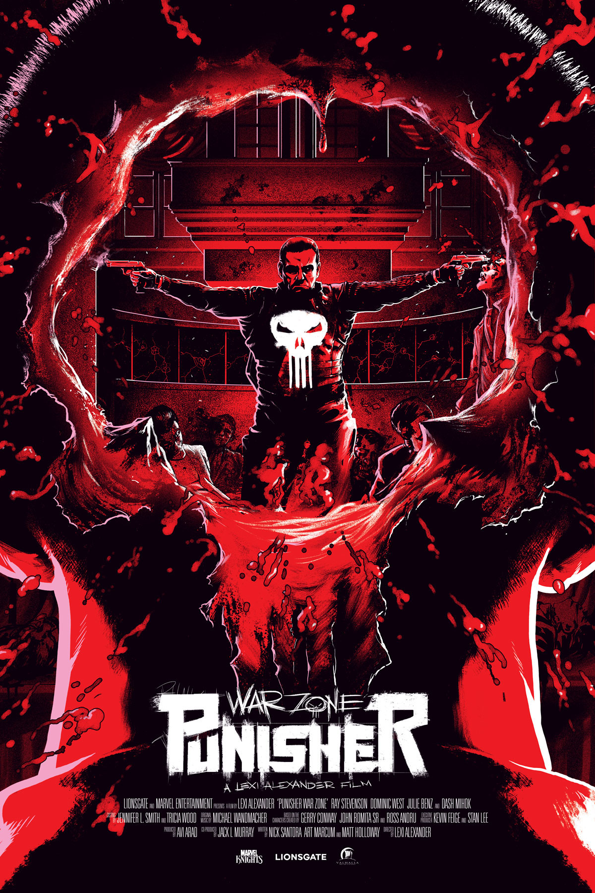Punisher War Zone Screen Print Poster