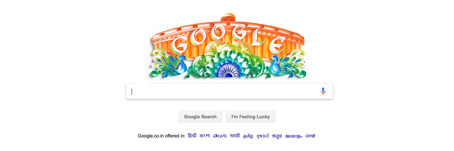 Google Doodle India Independence Day