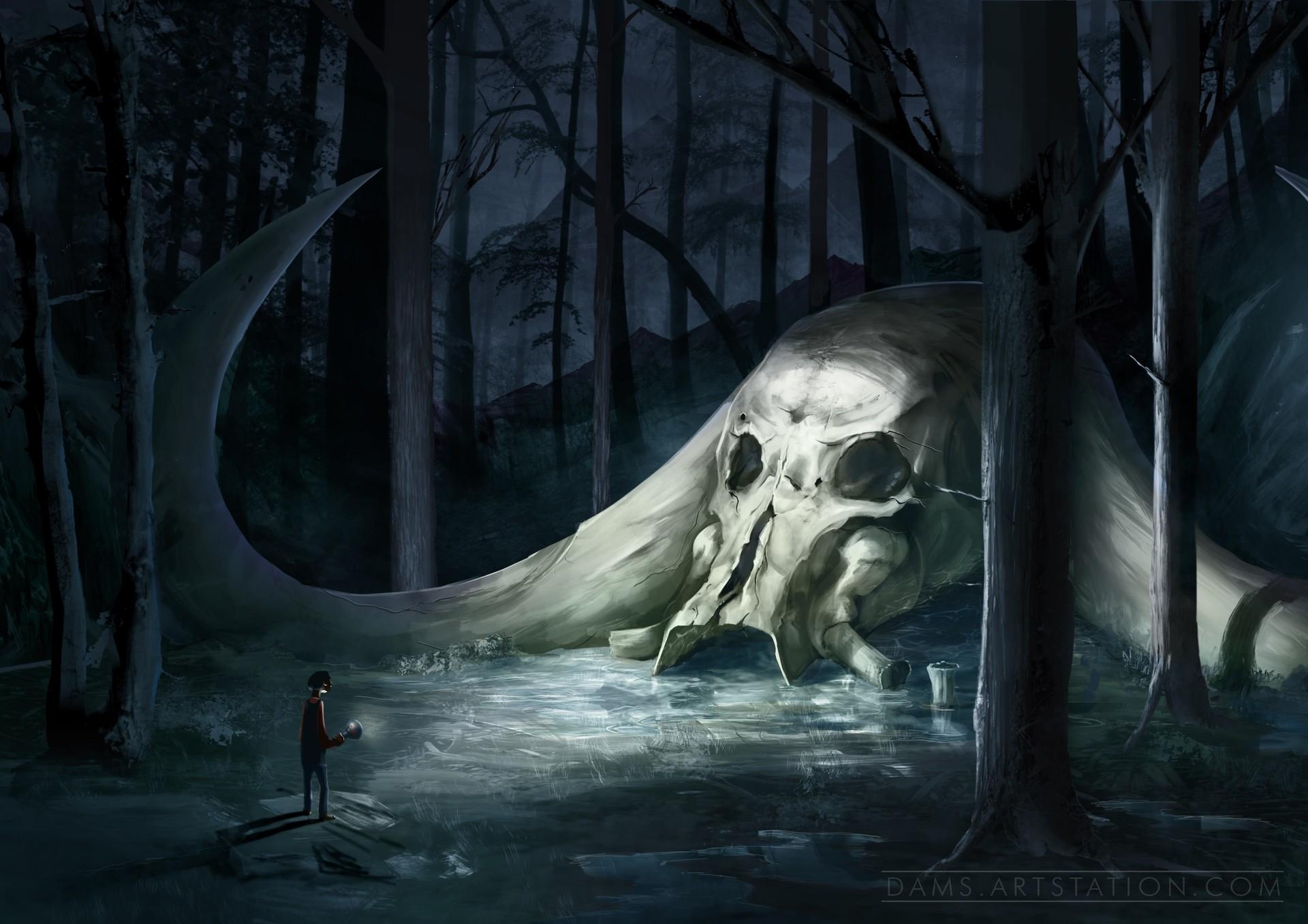 Mysterious skull
