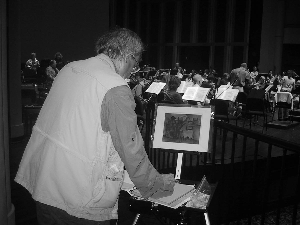 James Pollock Painting the Symphony