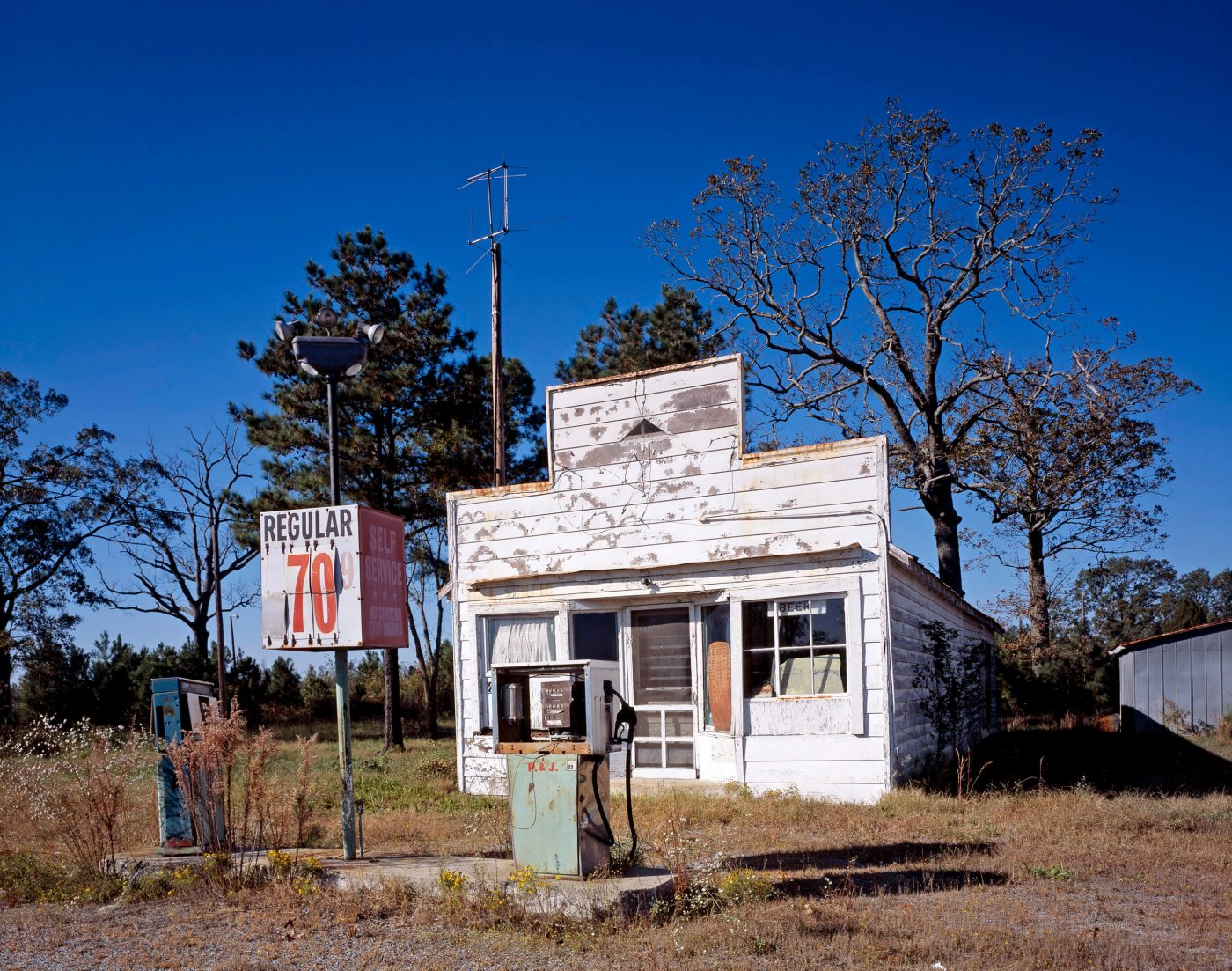 "Long ""out of gas"" applies to this old station in North Carolina."