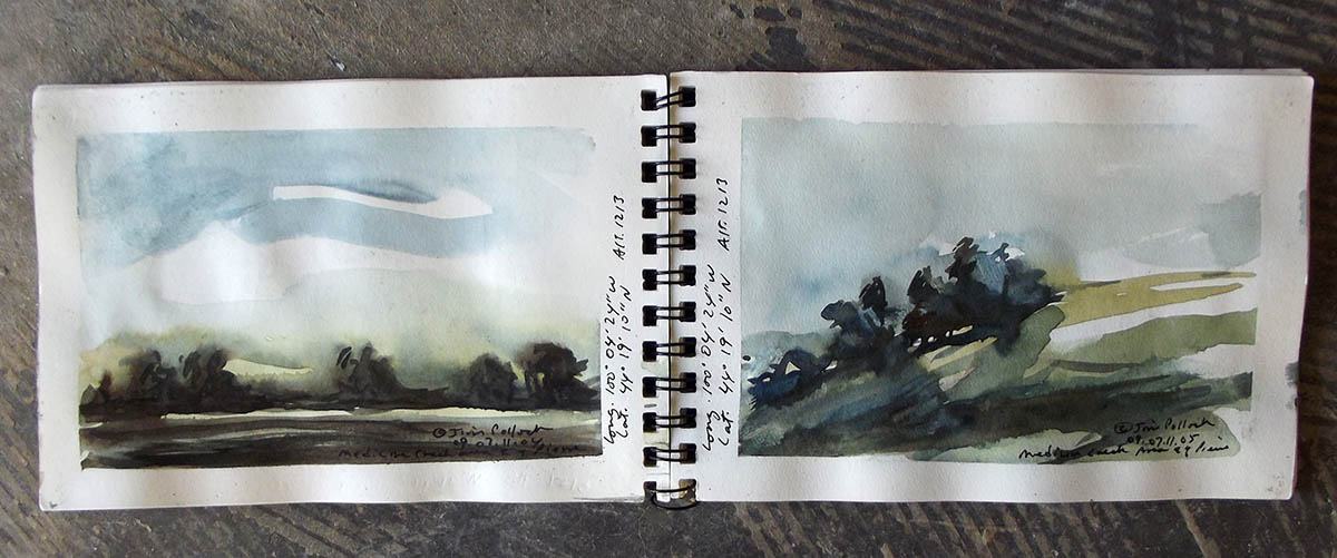 One of James Pollock's pocket sketchbooks