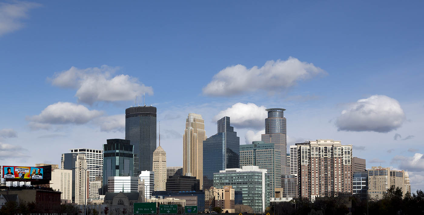 Skyline of Minneapolis, Minnesot